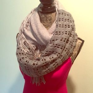 Accessories - Soft and Delicate Crochet Infinity Fringe Scarf